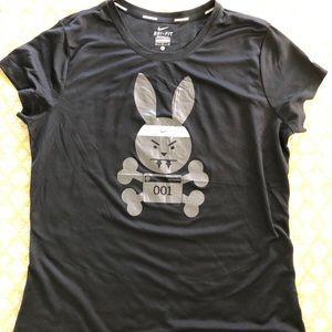 Women's Nike Dri-Fit Bunny Running Tee Size LG